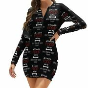 Long Sleeve Bodycon Ladies Patterns Polyester Elastic One-piece Dress