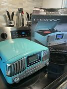 Trexonic Trx-16trq Wireless Bluetooth Record And Cd Player - Turquoise