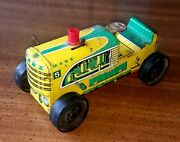 1950's Marx 5 Tin Wind-up Farm Tractor - Used, Works