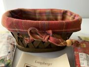 Longaberger Little Laundry Clothespin Booking Basket With Three Fabric Liners