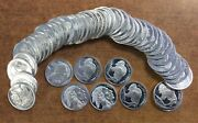 Indian And Buffalo 1/10 Ounce .999 Of Silver Roll Of 5 Ounces