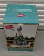 Disney Animated Castle With Lights And Music Christmas Holiday Mickey New In Box