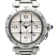Watches Silver Stainless Steel Pasha Grid From Japan Used