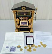 1989 Franklin Mint The Official Caesars Palace Slot Machine Bank W Tokens And Coa