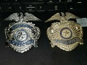 Obsolete Security Officer Hat Badge Badge Hallmark L.a. Stamp And Staty Co.