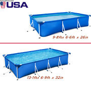 Usa Ship Bestway Rectangular Above Ground Swimming Pool Kit For Summer Outdoor