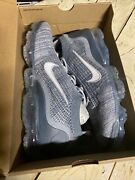 Size 10- Nike Air Vapormax 2021 Flyknit Armory Blue Grey