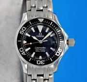 Ladies Omega Seamaster Ss 300m Professional Watch - Black Dial And Bezel - 2284.50