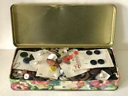 Vintage To Antique Sewing Buttons 1 1/2 Lbs Mother Of Pearl Plastic Metal Glass
