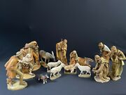 Italy Wood Carved Nativity Set - Anri-style 7andrdquo