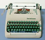 Vintage 1956 Smith Corona Silent Super 5t Portable Manual Typewriter With Case