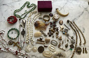 Lot Of Very Vintage And Antique Jewelry Items Incl. Gold Filled And Sterling