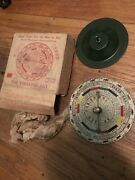 1920s Antique Sterling Cork And Seal Co Horse Gambling Wheel Mint 1 Of 1
