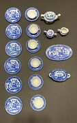 Vintage Childand039s Tea Set For 6 Blue Willow Made In Japan 26 Piece Set