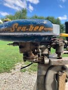 Antique 1947 Goodyear Sea Bee 3hp Outboard Boat Motor Engine W/ Gas Tank