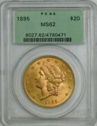 1895 20 Gold Liberty Ms62 Green Label Pcgs 944717-17
