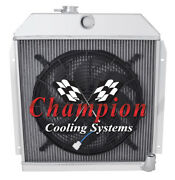 3 Row Wr Champion Radiator W/ 16 Fan For 1949 - 1952 Plymouth Special Deluxe