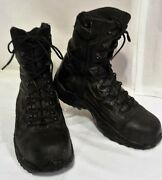 Converse Stealth Swat Black Leather Boots Mens 7.5m C8874 Womens 9.5m