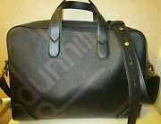 Authentic Dunhill Briefcase. Leather Trim, Laminated Canvas Logo. 16 X 12 X 3