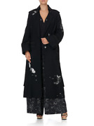 New Camilla Franks 100 Wool Astro Disco Embroidered Military Coat L Limited.