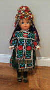 Vintage 31 Doll In Elaborate Ethnic Costume With Magnificent Headress C. 1960