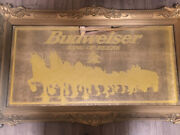 5 Foot Long Budweiser Vintage Gold Mirror Clydesdale Collectible