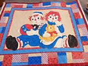 Daisy Kingdom Raggedy Ann And Andy Double Side Quilted Fabric Panel