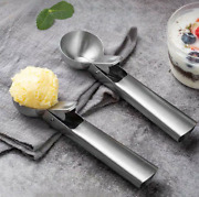 2pcs Ice Cream Scoop Stainless Steel Easy Trigger Cookie Watermelon Dough Spoon