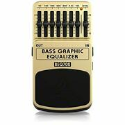 Behringer Bass Effects Pedal 7-band Graphic Equalizer Tan Beq700 Bass Graphic Eq