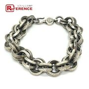 Chrome Hearts Double Ring B-ring Accessory Bracelet Sv925 Mens Silver Secondhand