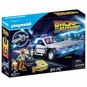 Playmobil Back To The Future Delorean Vehicle Playset - 64 Piece