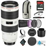 Canon Ef 70-200mm F/2.8l Is Iii Usm Telephoto Zoom Lens - Bundle With 64gb
