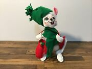 Annalee Doll 2010 6andrdquo Christmas Mouse W/green Hat Green Scarf Red Mittens Posable