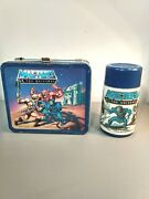 Vintage 1983 Masters Of The Universe Metal Lunchbox And Thermos He-man No Handle