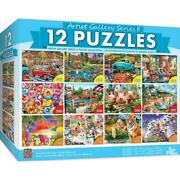 New Masterpieces Artist Gallery Ii Bundle 12-pack Puzzle 32177