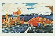 Postcard Big Texan Thunderstorm Route 66 1994 Unposted