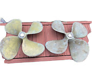 Bronze Propellers 21 X 22.5 1 3/4 Bore 4 Blades Matching Set Lh And Rh As Is.