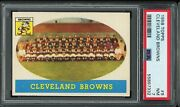 1958 Topps 9 Cleveland Browns Psa 7 Team Card Jim Brown Well Centered