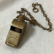 Early Brass The Acme Thunderer Whistle S. R. Original Brass Chain And Cork Pea