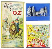 1921 The Wonderful Game Of Oz - First Oz Board Game Complete Pewter Game Pieces