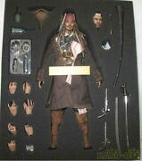 Pirates Of The Caribbean Jack Sparrow 1/6 Hot Toys Action Figure Used