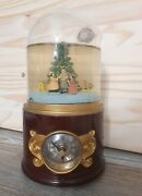 Mr. Christmas Gold Label Collection Musical Snow Globe Holiday Time Clock