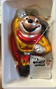 Midwest Of Cannon Falls Mighty Mouse Glass Ornament. New In Box. Vtg 1998