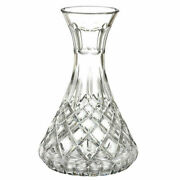 Waterford ☘️ Ireland Made Crystal Lismore Carafe 9 Tall Open Wine Decanter Rare