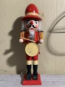 Holiday Drummer Nutcracker About 15 Inches Tall