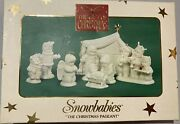 Dept 56 Retired Snowbabies Nativity The Christmas Pageant 8 Piece Set With Box