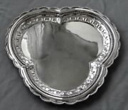 Antique Sterling Silver Tray Trefoil Shaped 65.6 Oz 17 3/4 C1890 Russian Mark