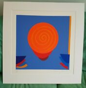 Terry Frost - Orange And Blue Space - Signed Silkscreen Limited Edition Print
