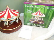 Mr. Christmas Holiday Merry Go Round Carousel Not Working Animated Lights Music