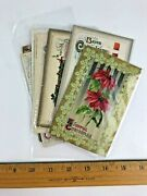 Lot 8 Antique 1900and039s John Winsch Christmas Postcards Embossed Germany Divided
